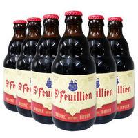 St-Feuillien 圣佛洋 棕啤酒 礼盒装 330ml*6瓶 *3件